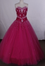 Affordable Ball gown Sweetheart-neck Floor-length Quinceanera Dresses Style FA-C-090