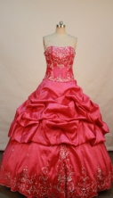 Exquisite Ball gown Strapless Floor-length Quinceanera Dresses Style FA-W-269