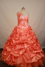 Gorgeous Ball gown One shoulder Floor-length Quinceanera Dresses Style FA-W-255