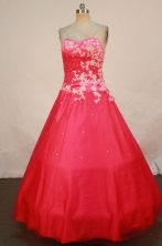 Perfect A-line Sweetheart  Floor-length Quinceanera Dresses Appliques with Sequins Style FA-Z-0200