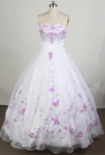 Pretty Ball gown Strapless Floor-length Quinceanera Dresses Style FA-W-r70