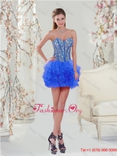 2016 Spring Most Popular Royal Blue Prom Dresses with Beading and Ruffles QDDTA5002-4FOR