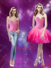 Elegant Beading and Ruffles Sweetheart 2015 Fall Prom Dress in Multi Color SJQDDT15004FOR