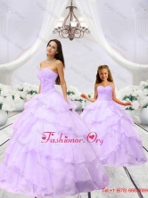 Affordable Beading and Ruching Lilac Macthing Sister Dresses for 2016 MLXN911415-LG-3FOR