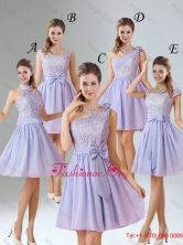 2016 Spring A Line Mini Length Dama Dresses in Lavender BMT010-1FOR