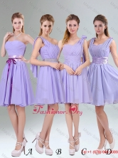 Classical Lavender Princess Mini Length Dama Dress with Ruching BMT005FOR