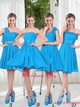 Exclusive 2016 Dama Dresses with Ruching in Blue BMT001-6FOR
