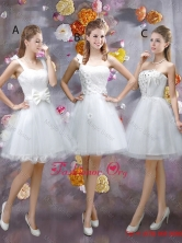 Sophisticated Appliques White Dama Dresses with Mini Length BMT057FOR