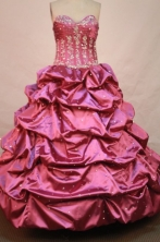 Wonderful Ball gown Sweetheart-neck Floor-length Quinceanera Dresses Style FA-W-103